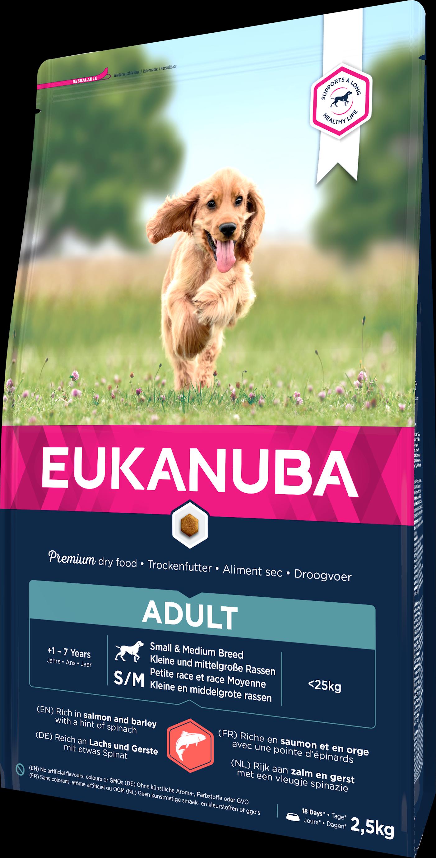 Dog Adult Small/Medium Salmon & Barley - 2,5 kg