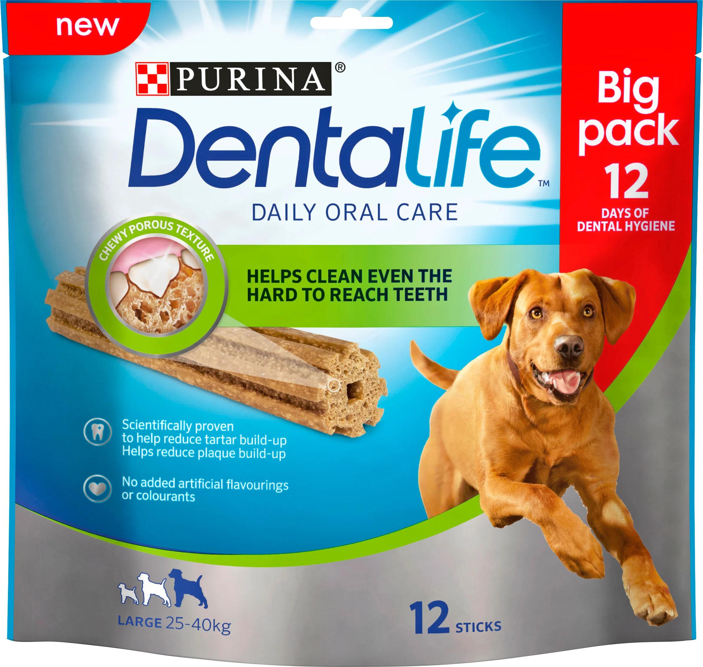 Dentalife tuggpinne Large - 1 påse, 12 st tuggpinnar