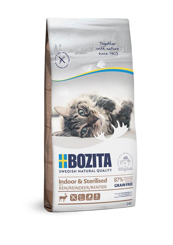 Indoor & Sterilised foder för katt - 2 kg