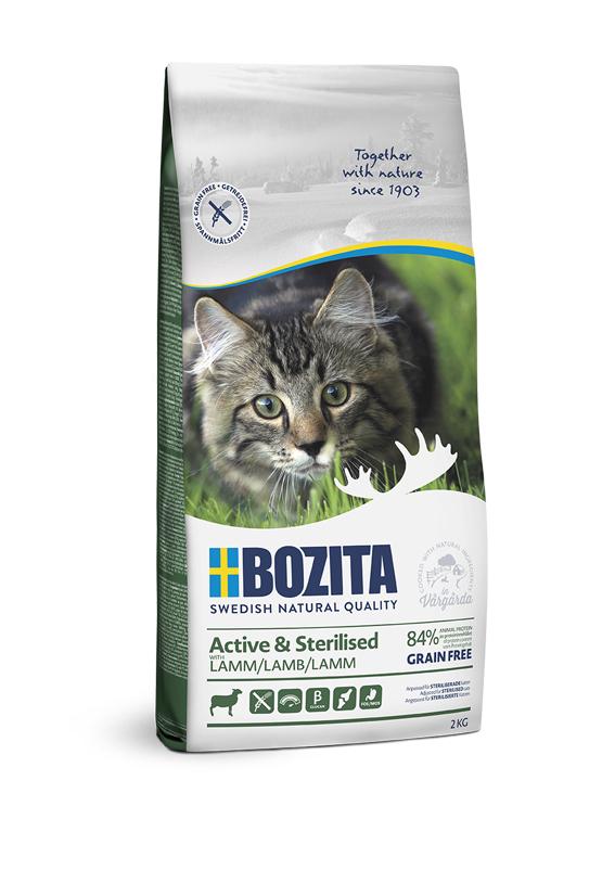 Active & Sterilized Lamb Spannmålsfritt foder för katt - 2 kg