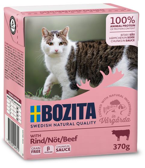 Bitar i sås Nötkött för katt