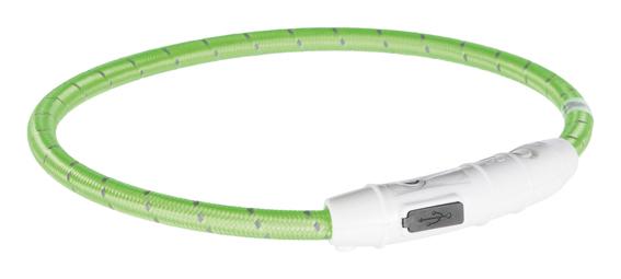 Lysande hundhalsband - Grön Medium