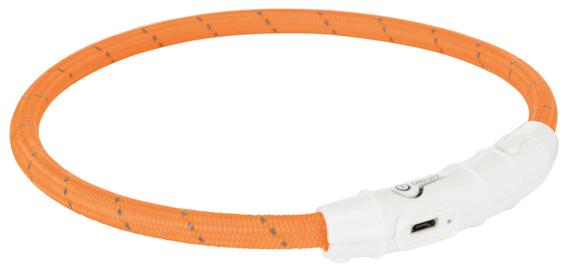 Lysande hundhalsband - Orange Medium