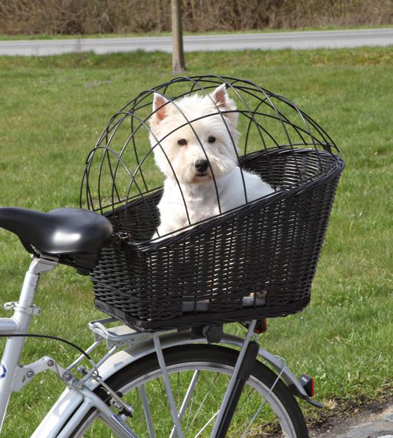 Cykelkorg med galler för pakethållare