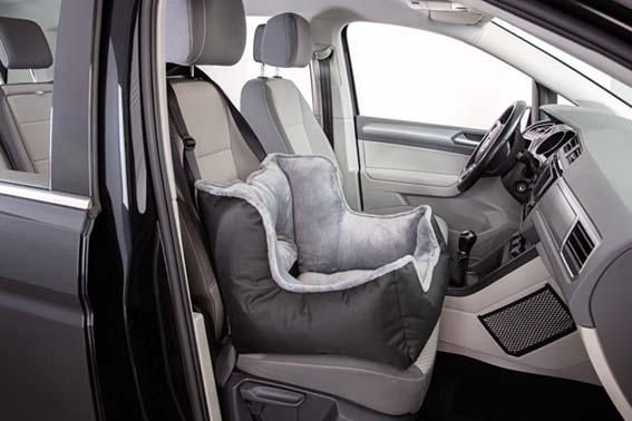Bilsäte med vaddering för hund