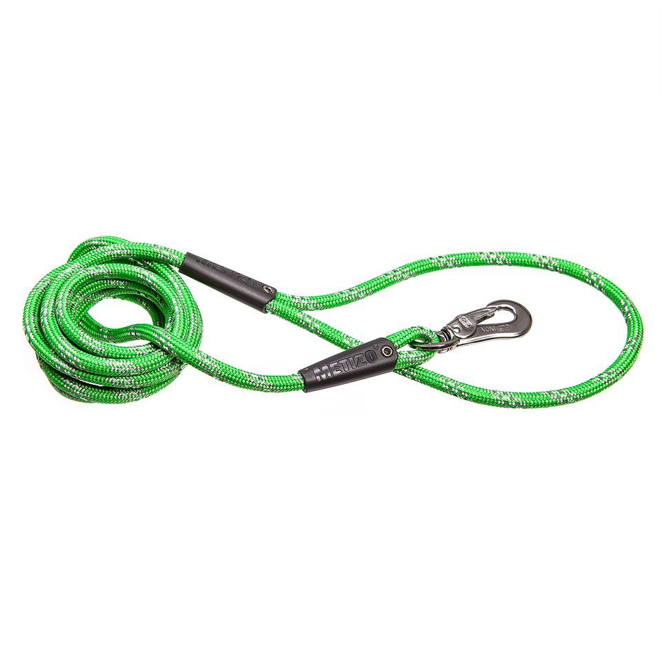 Koppel Runt m. Reflex - 180 cm Grön, Grön 3 m, 55 mm hake, 5 m, 55 mm hake Grön, 5 m, 75 mm hake Grön