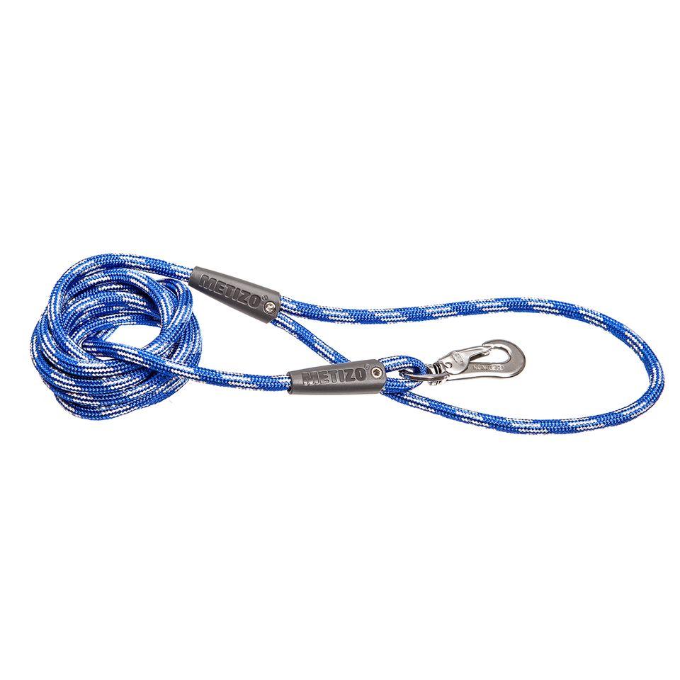 Koppel Runt m. Reflex - 180 cm Blå, 3 m, 55 mm hake Blå, Blå 5 m, 55 mm hake, 5 m, 75 mm hake Blå