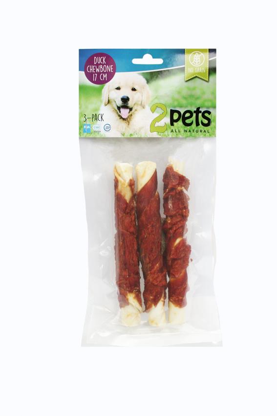 Tuggpinne med ankfilé för hund - Medium