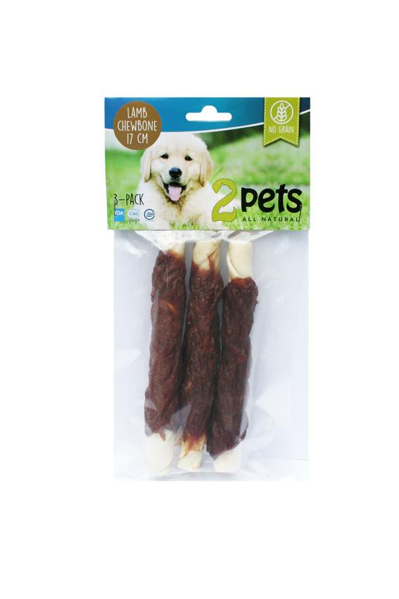Tuggpinne med lamm för hund - Medium