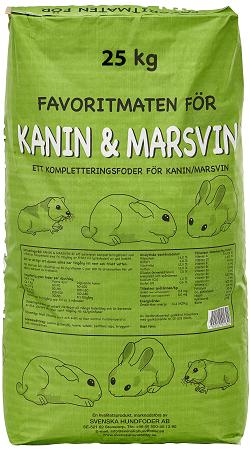 Kanin & Marsvinsfoder - 25 kg