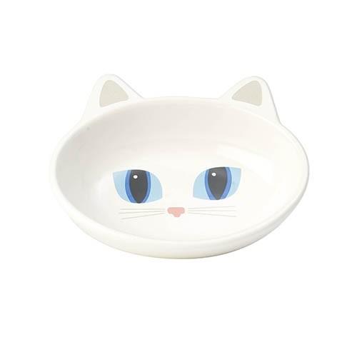 Frisky Kitty Kattskål - Vit