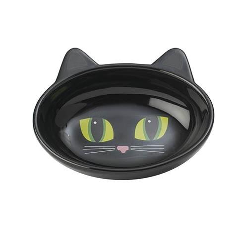 Frisky Kitty Kattskål - Svart