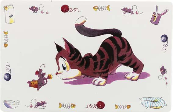 Matskålsunderlägg Katt