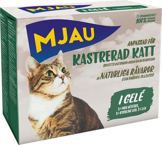 Multibox Bitar i Gelé Kastrerad Katt