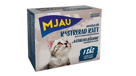Multibox Bitar i Sås Kastrerad Katt
