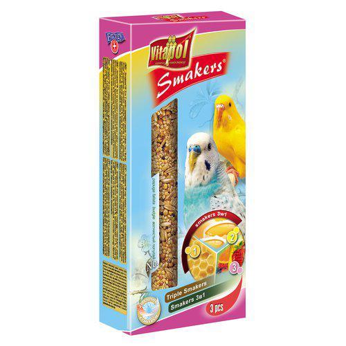 Smakers Undulat Tillskottsfoder - Frukt/Honung/Ägg