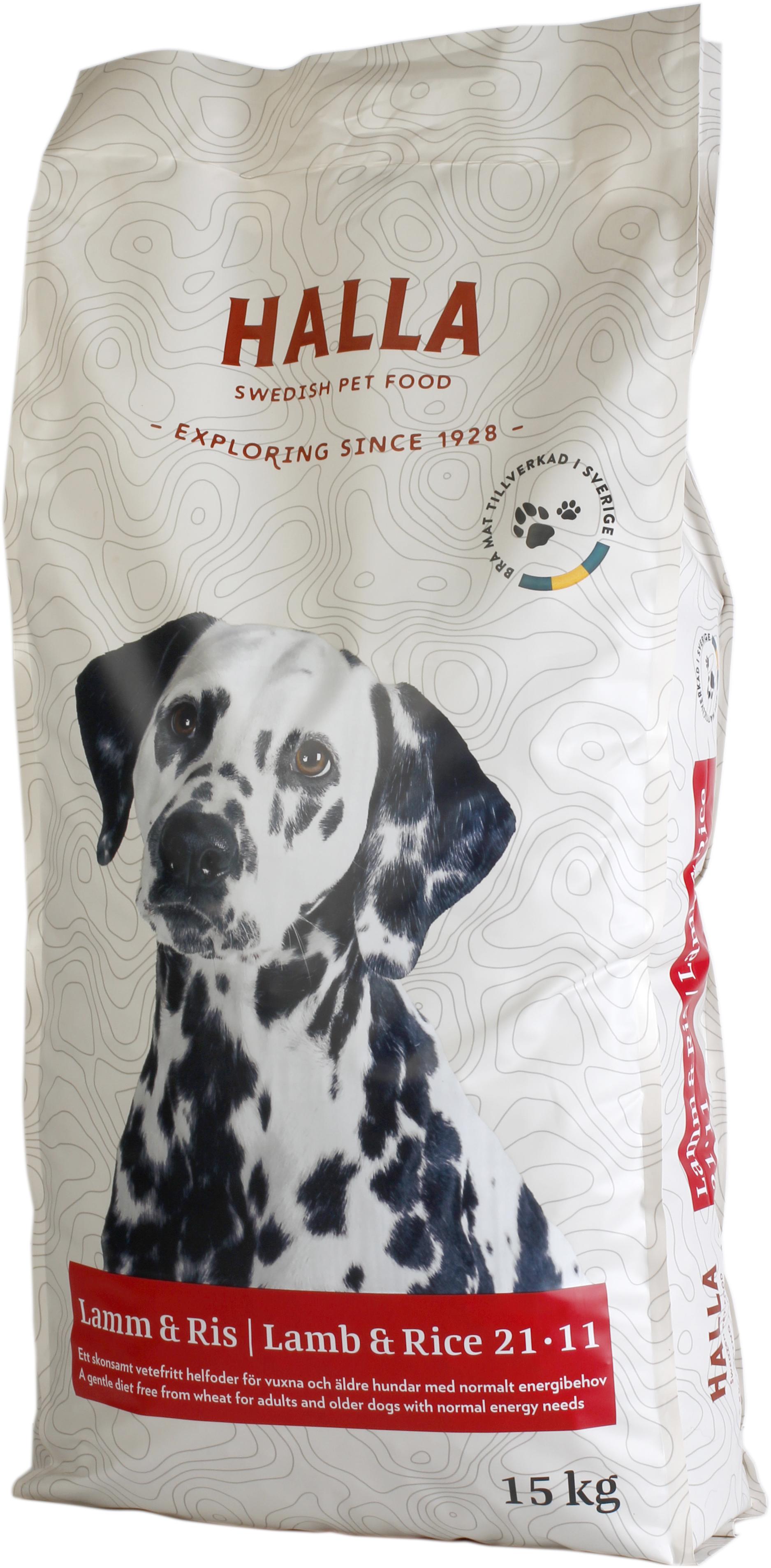 Hundfoder Lamm & Ris - 15 kg