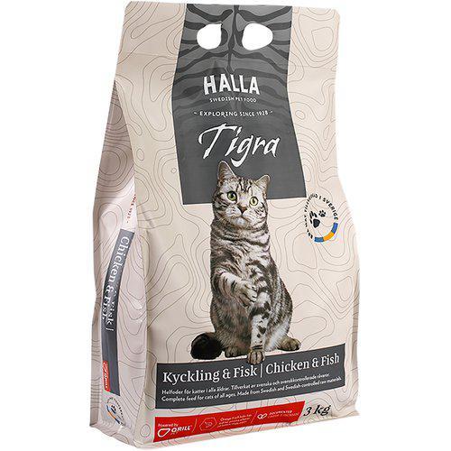 Kattfoder Tigra Kyckling & Fisk - 3 kg