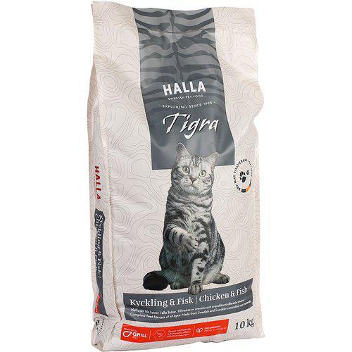 Kattfoder Tigra Kyckling & Fisk - 10 kg