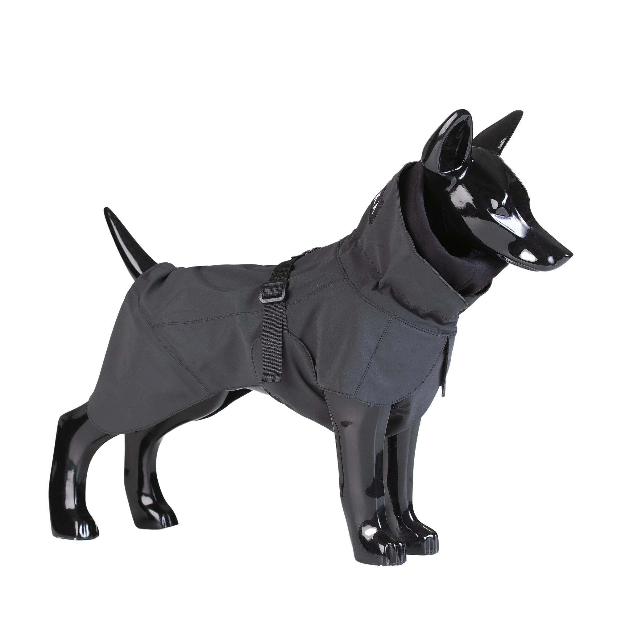 Reflekterande Regnjacka Hund, Svart