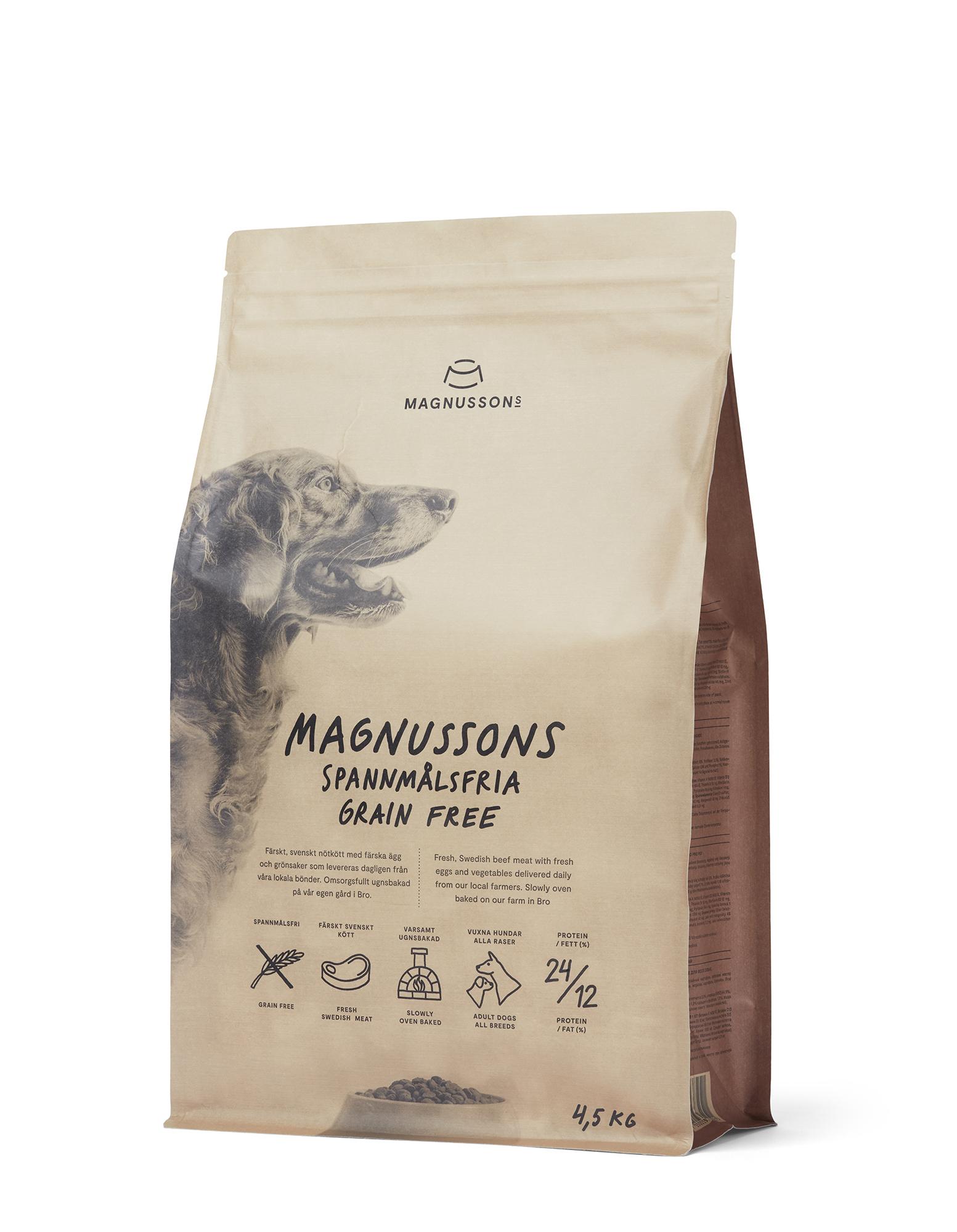 Spannmålsfri Hundfoder - 4,5 kg