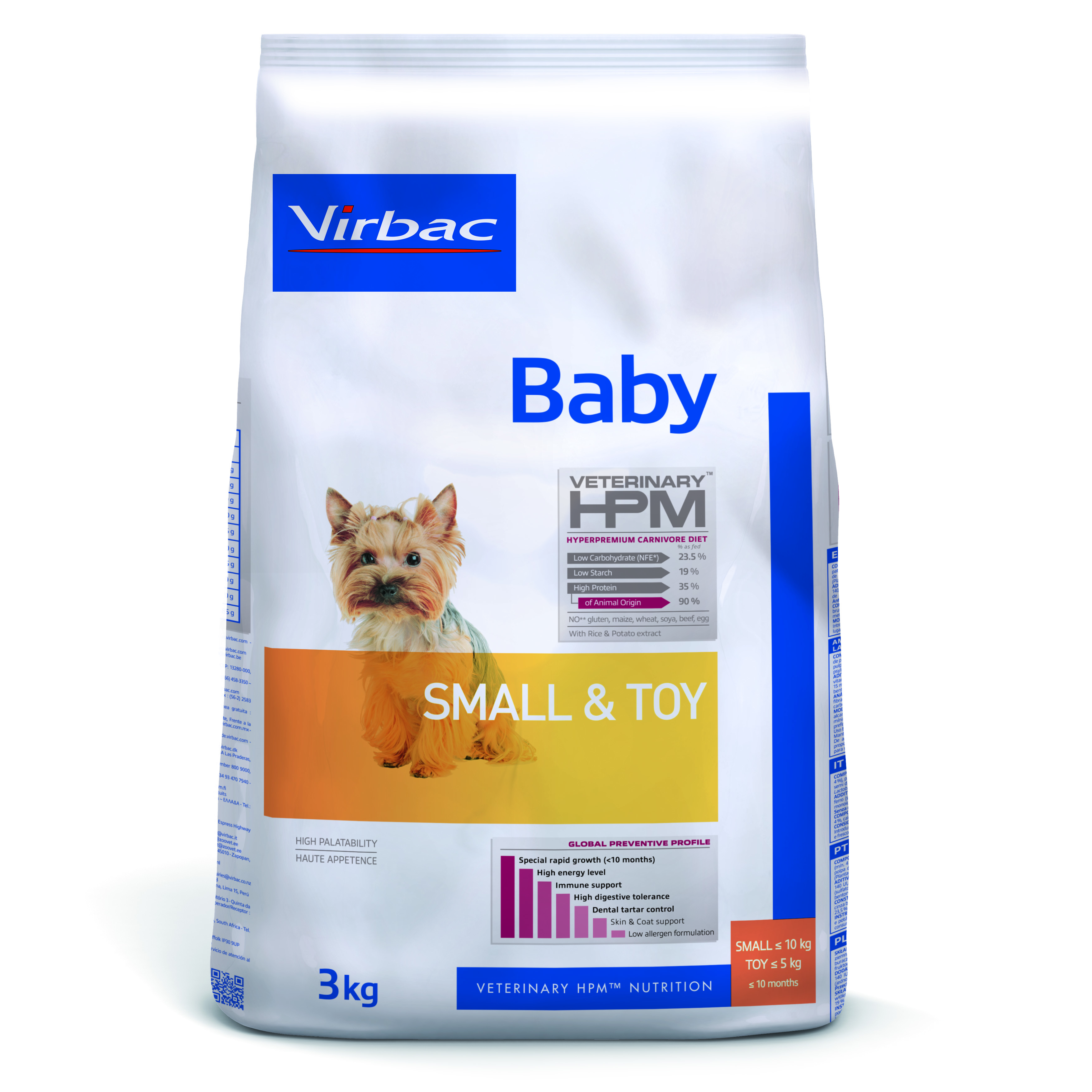 Baby Dog Small & Toy - 3 kg
