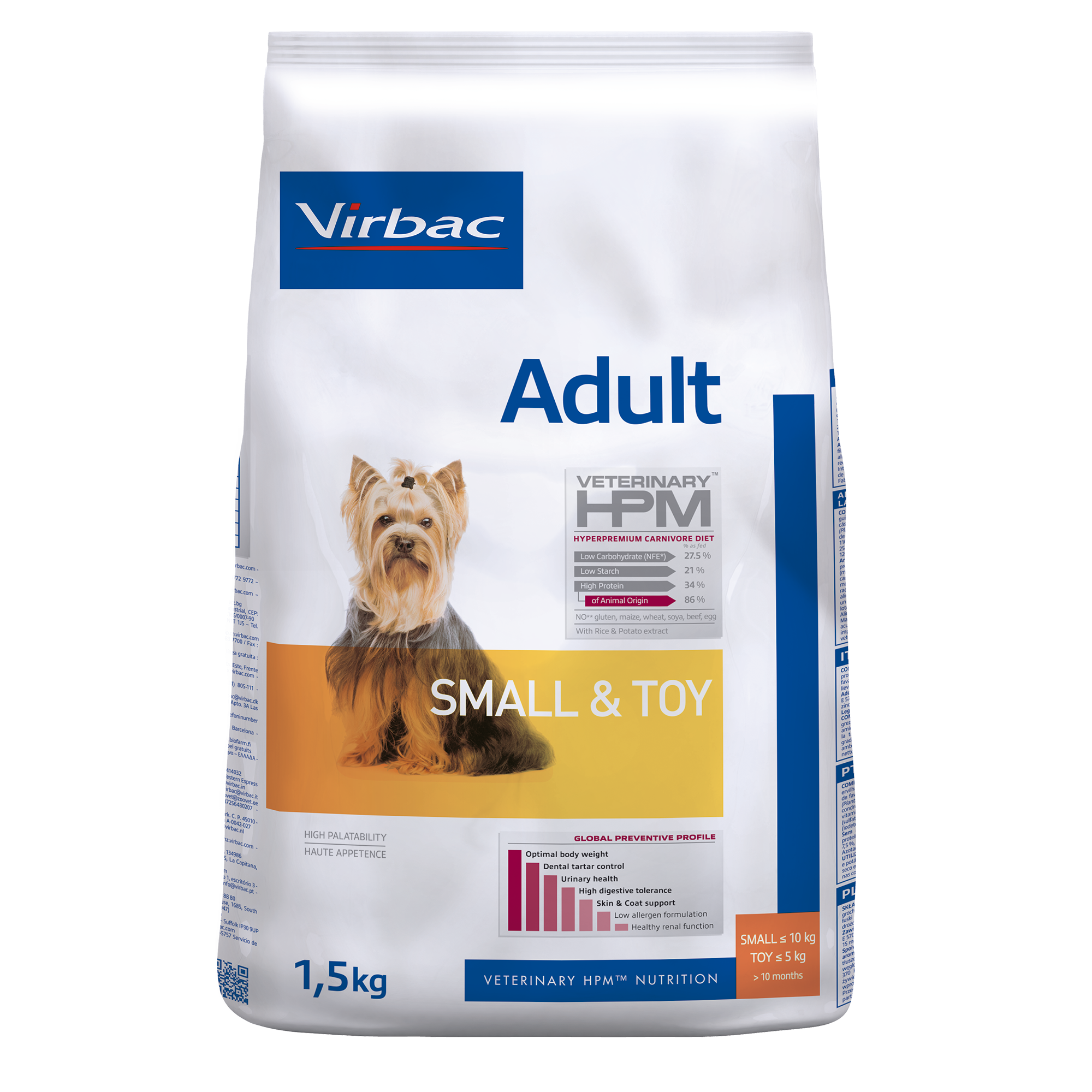 Adult Dog Small &Toy - 1,5 kg