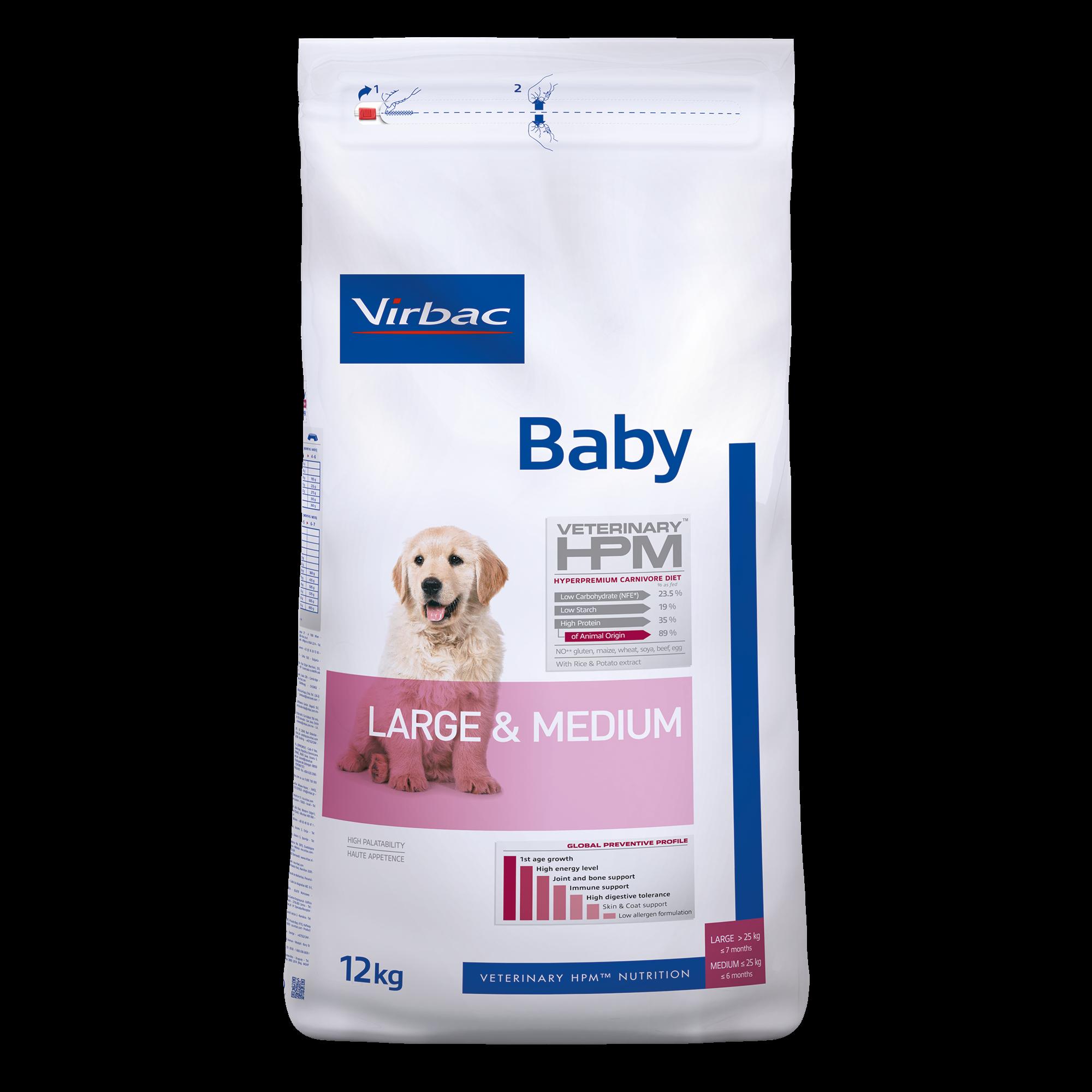 Baby Dog Large & Medium - 12 kg
