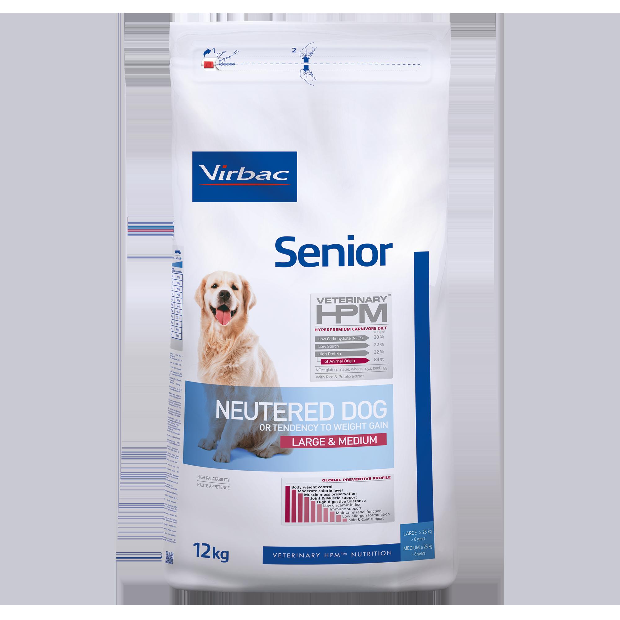 Senior Neutered Dog Large & Medium - 12 kg