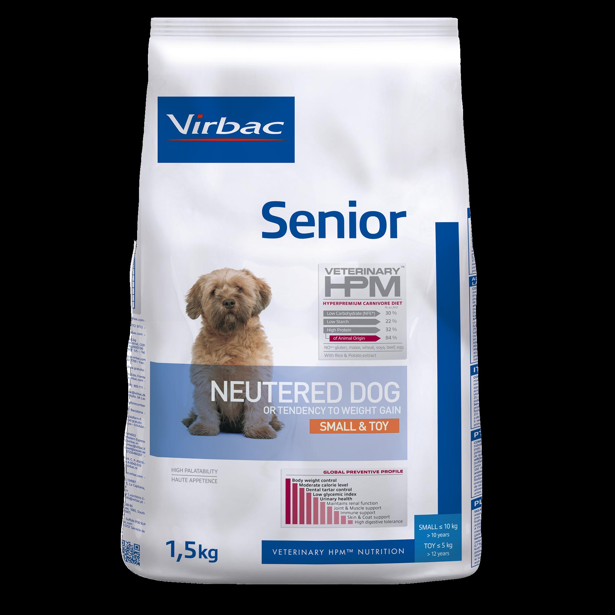 Senior Neutered Dog Small & Toy - 1,5 kg