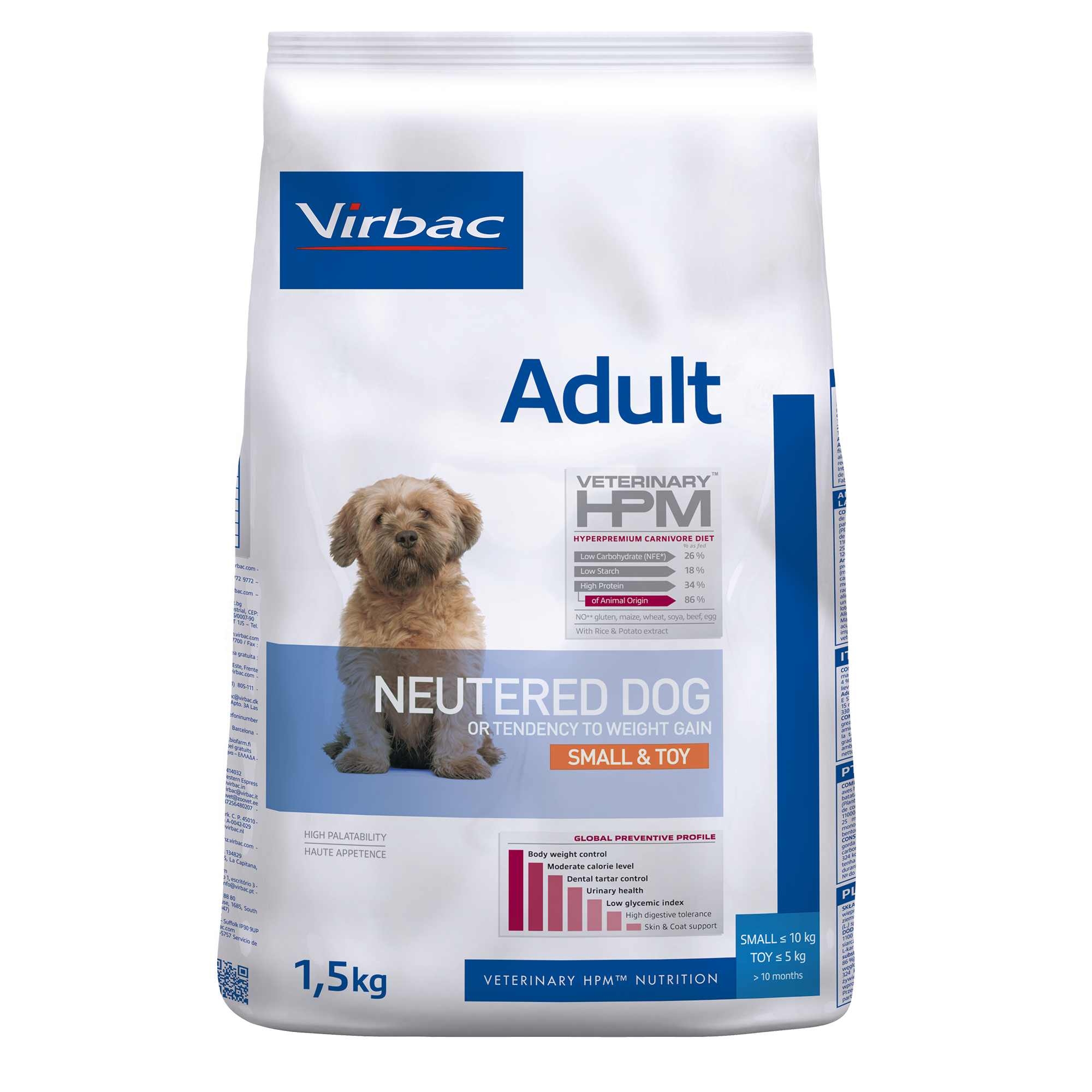 Adult Neutered Dog Small & Toy - 1,5 kg