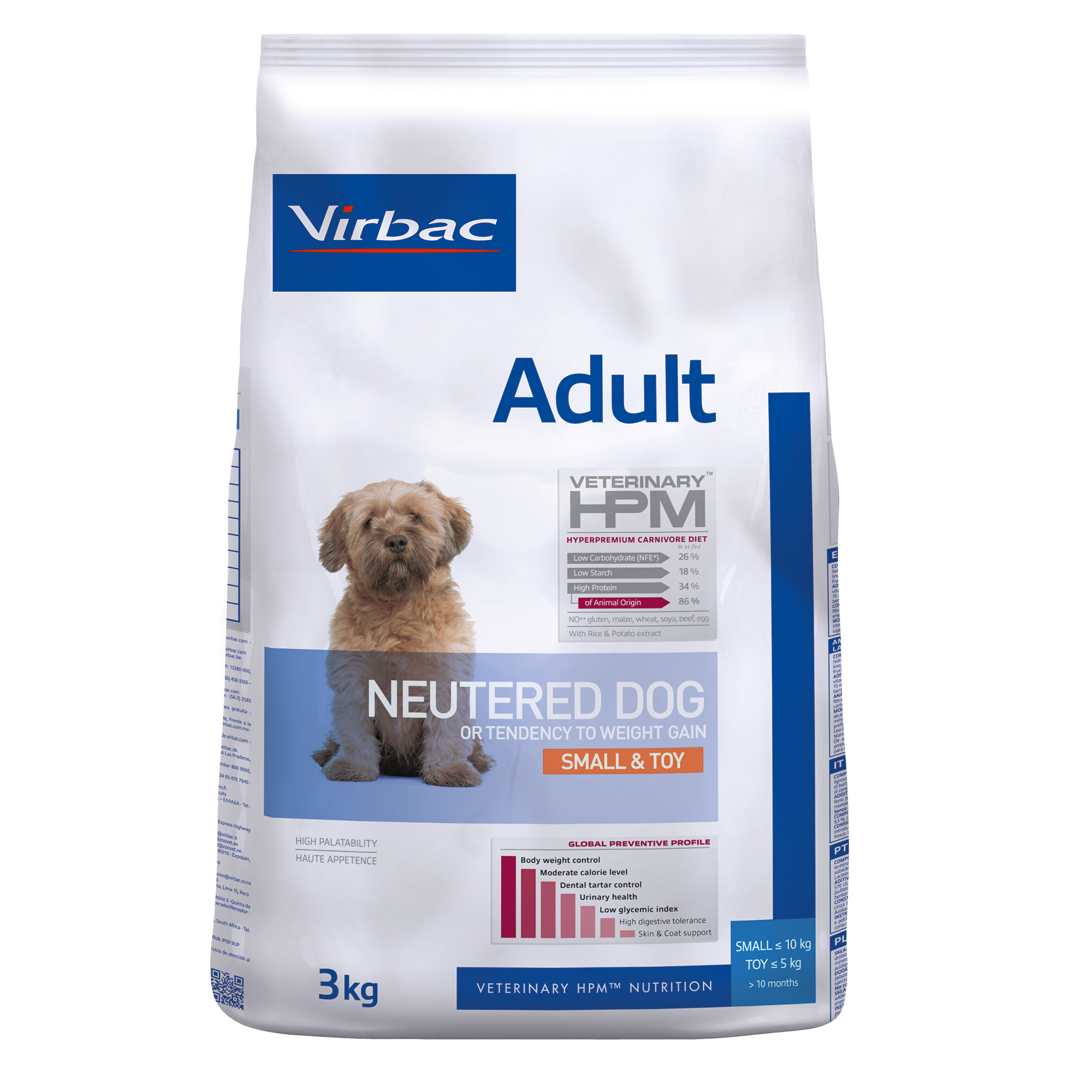 Adult Neutered Dog Small & Toy - 3 kg