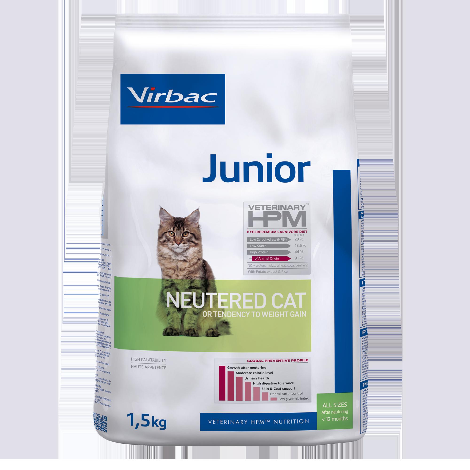 Junior Neutered Cat - 1,5 kg