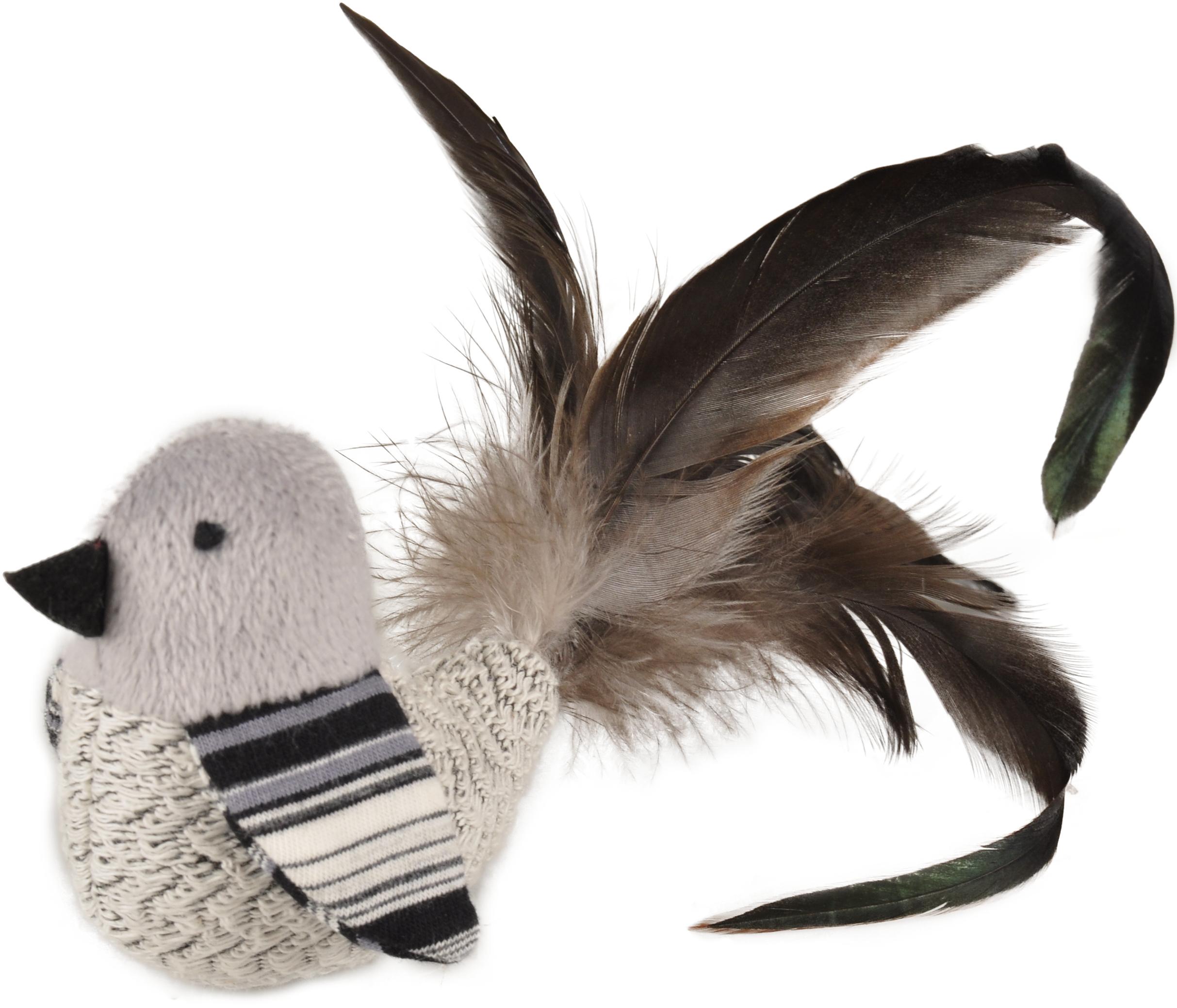 Fågel med fjädrar, kattmynta och rassel