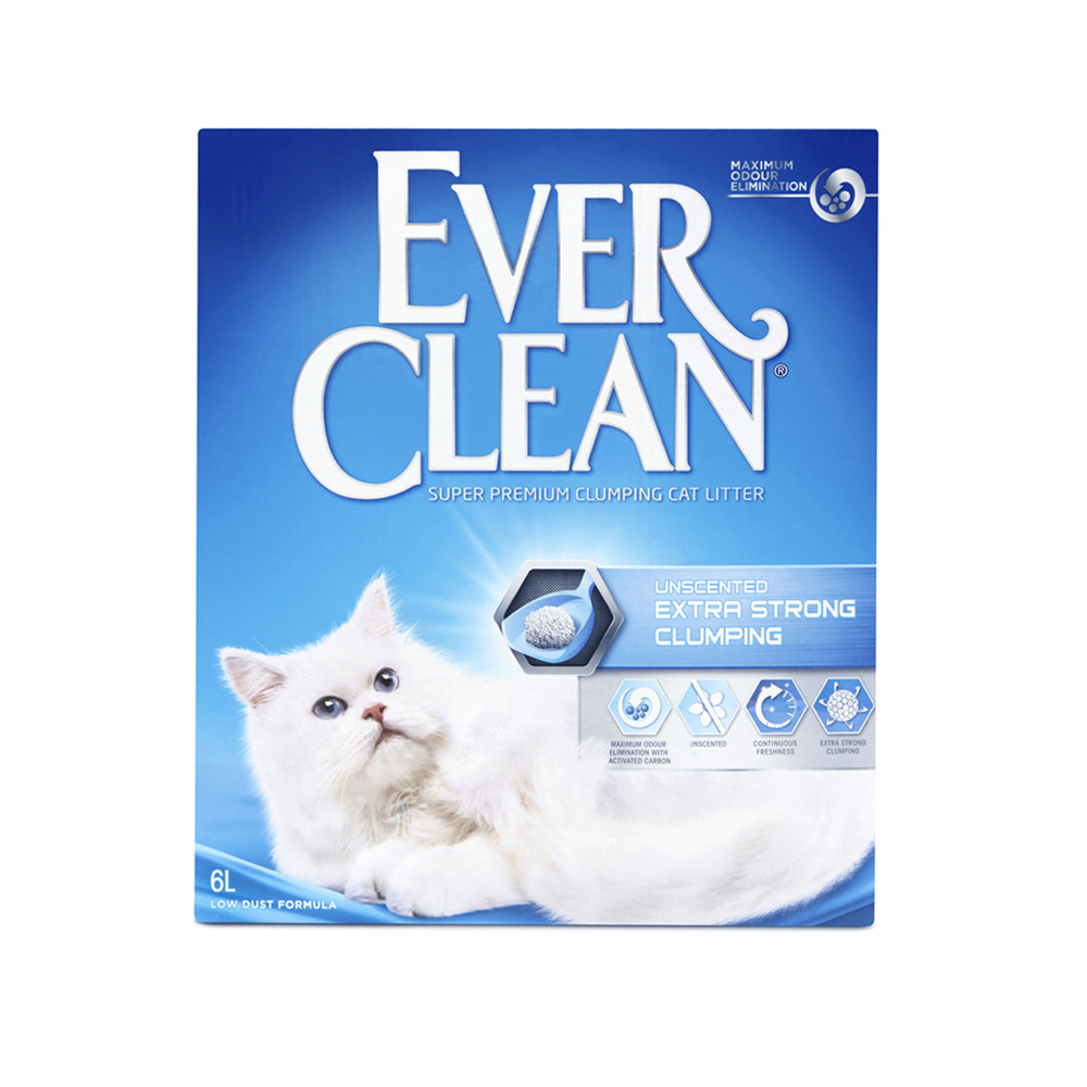 Extra Strong Unscented kattsand - 6 L