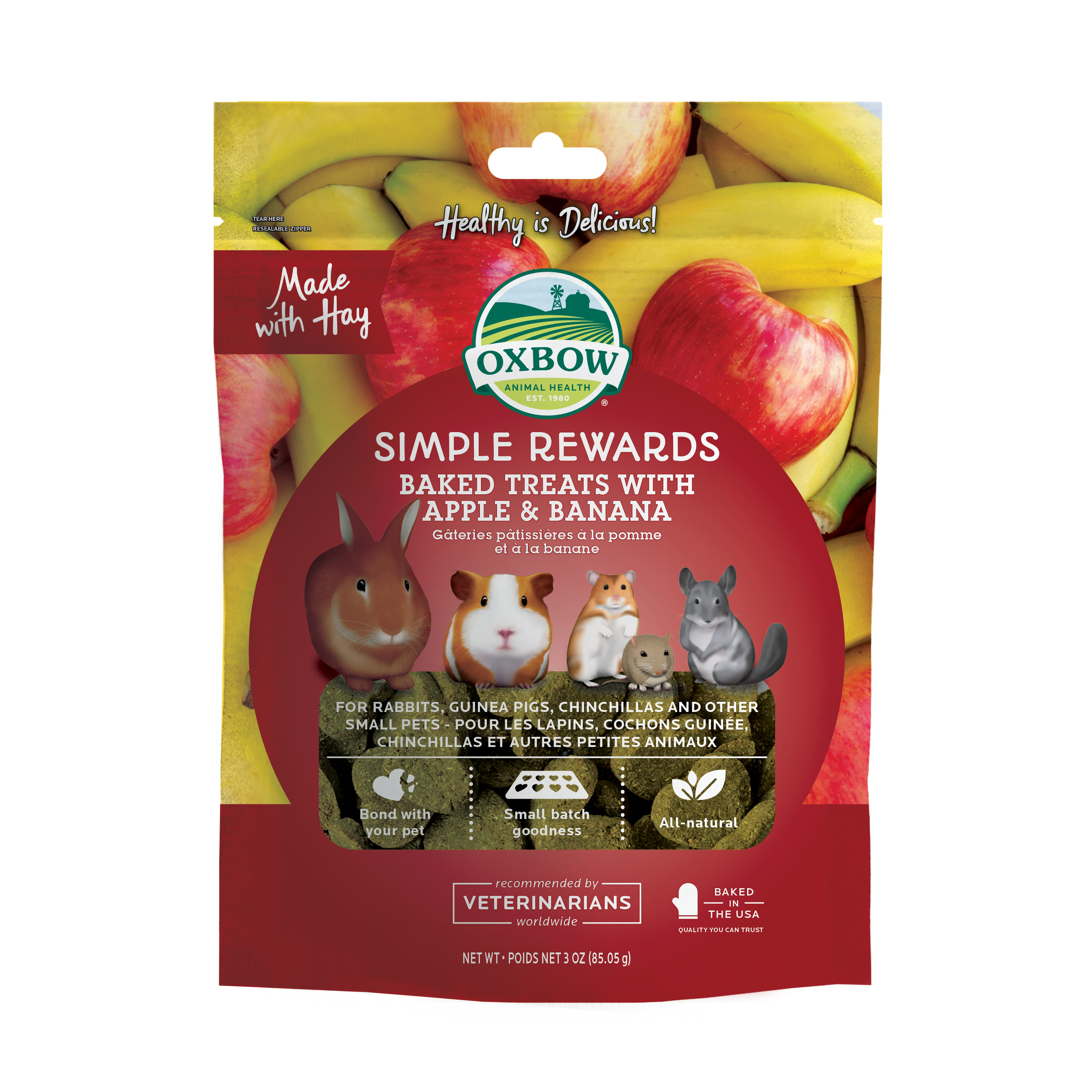 Ugnsbakat godis med äpple & banan - 85 g