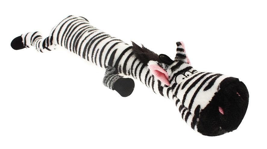 Långt djur i plysch - Zebra