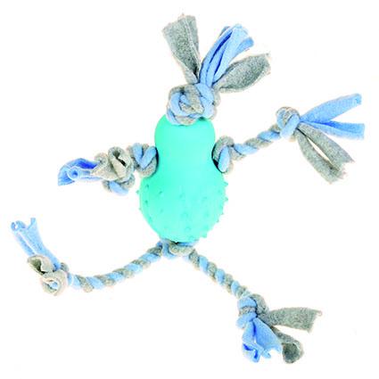 Fleeceleksak med gummikropp - Blå