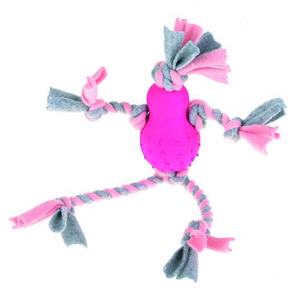 Fleeceleksak med gummikropp - Rosa