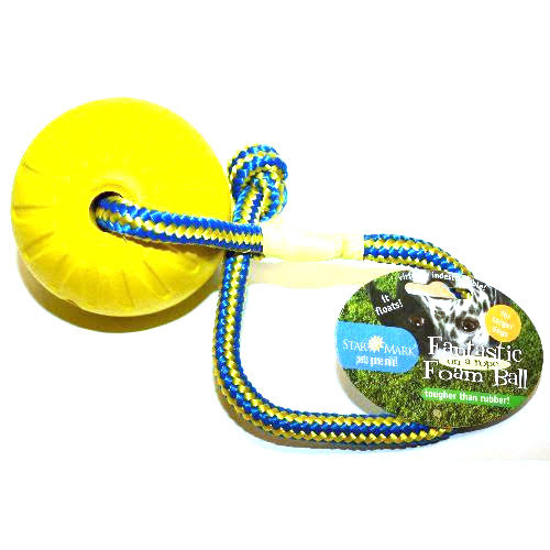 Foamball med rep - Large