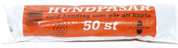 Bajspåsar med knythandtag - Svart 50 st