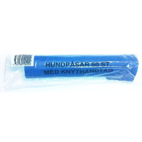 Bajspåsar med knythandtag - Blå 50 st