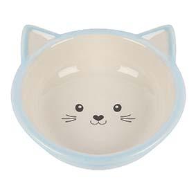 Kattskål i keramik - Blå