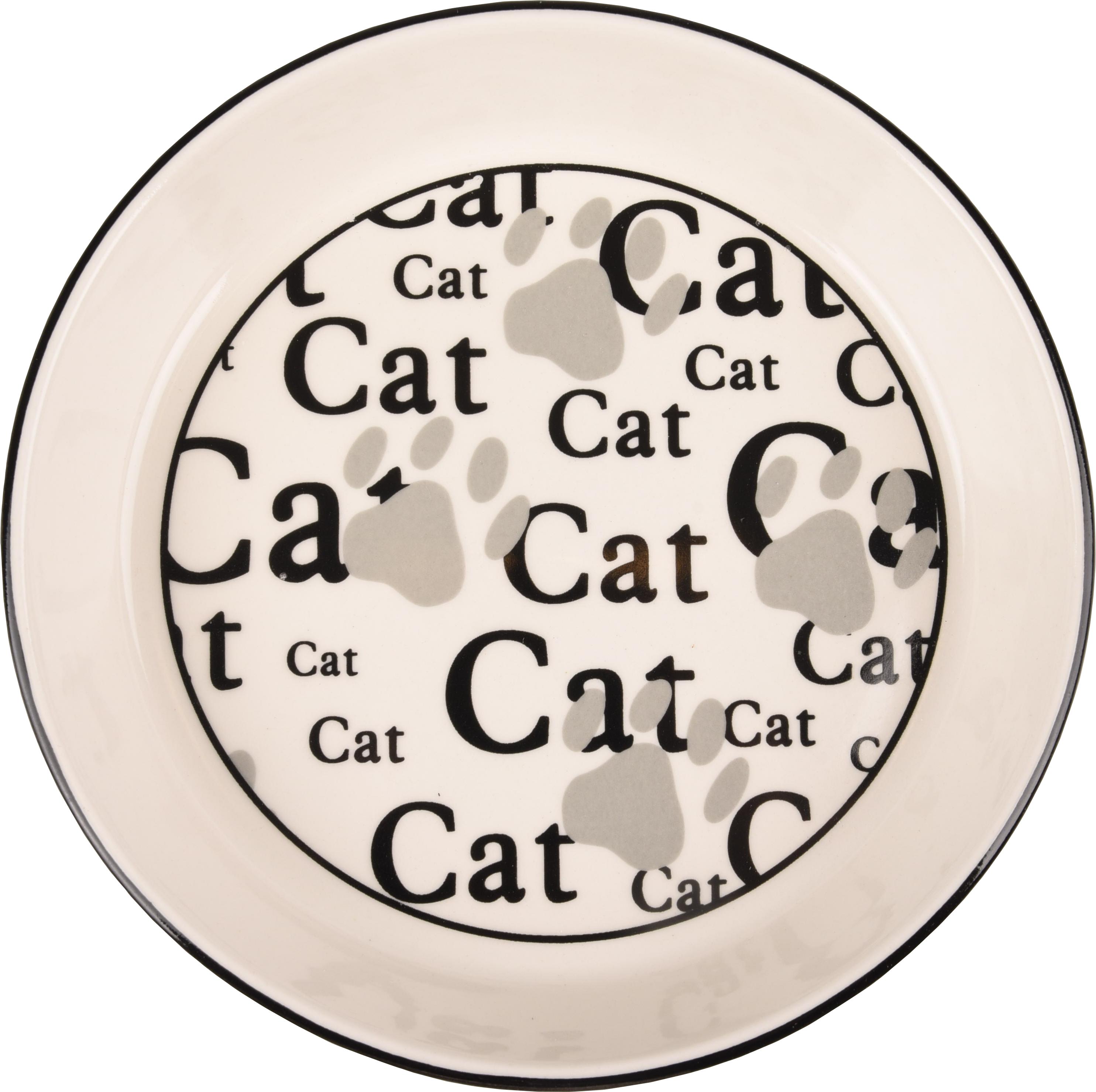 Kattskål i keramik CAT - L