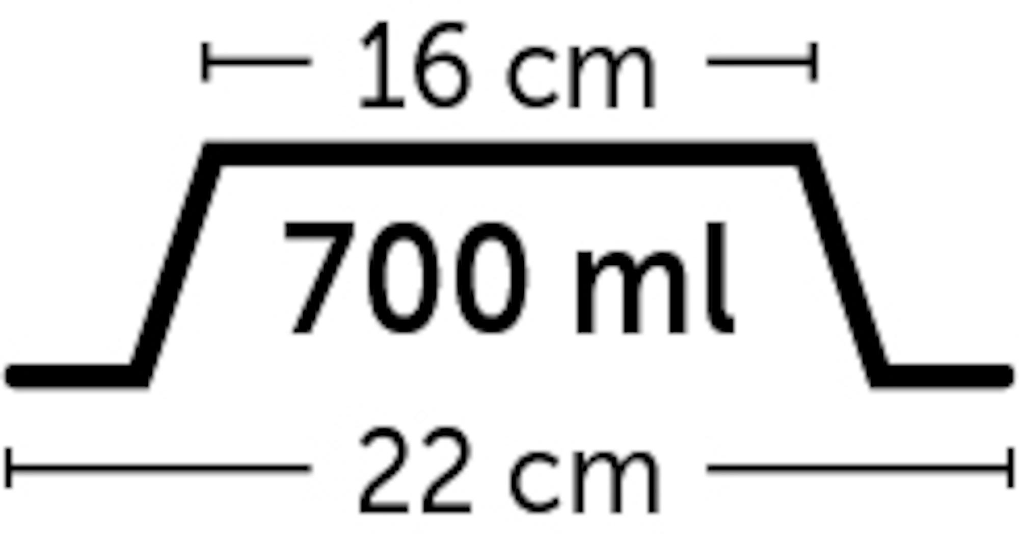 Skål i melamin med lös rostfri skål - 700 ml