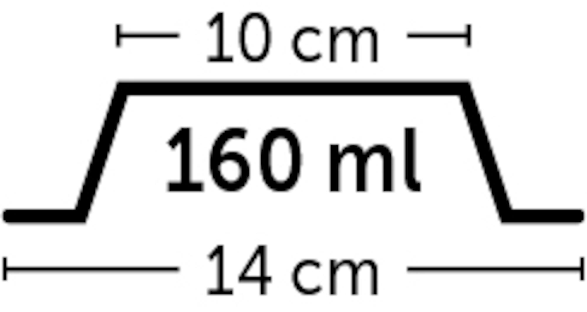 Skål i melamin med lös rostfri skål - 160 ml