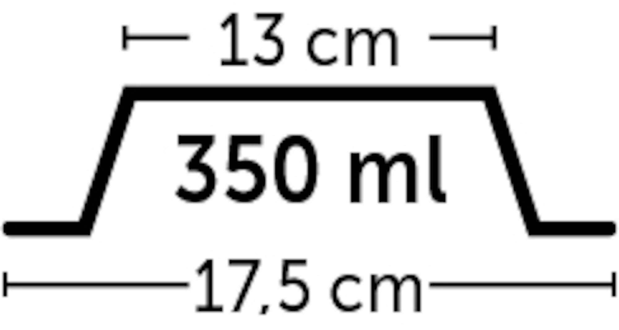 Skål i melamin med lös rostfri skål - 350 ml