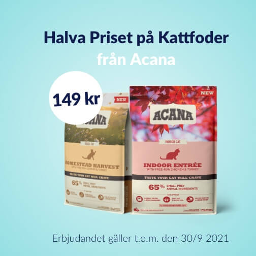 Halva priset 149 kr på Acana Kattfoder