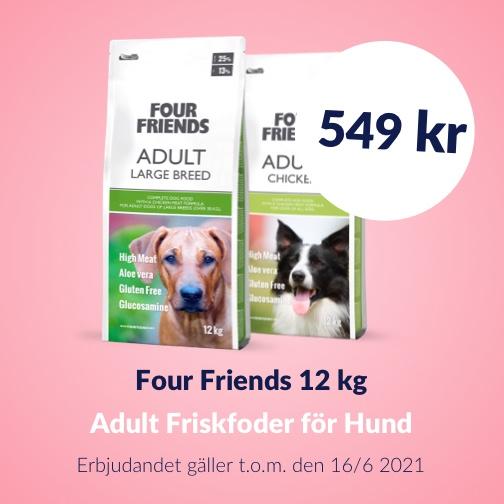 130 kr rabatt på Four Friends Friskfoder 12 kg