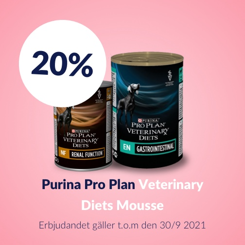 20 % rabatt på Purina Veterinary Diets Mousse
